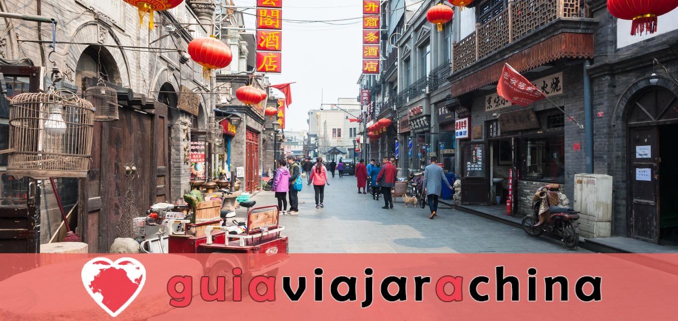 Estos son los barrios tradicionales'Hutong' de la ciudad antigua.