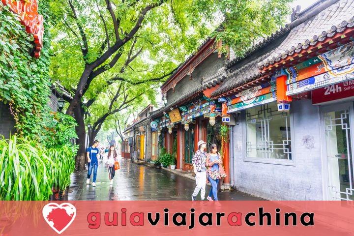 Estos son los barrios tradicionales'Hutong' de la ciudad antigua. 1