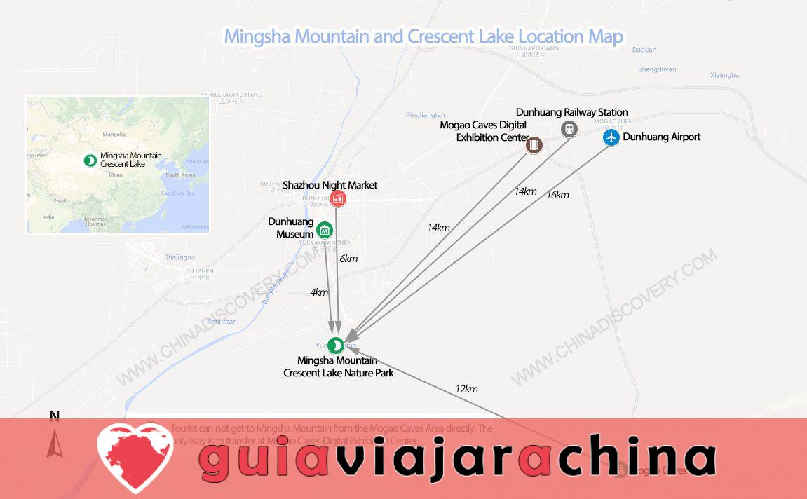Parque Natural del Lago de la Media Luna de la Montaña Mingsha 2
