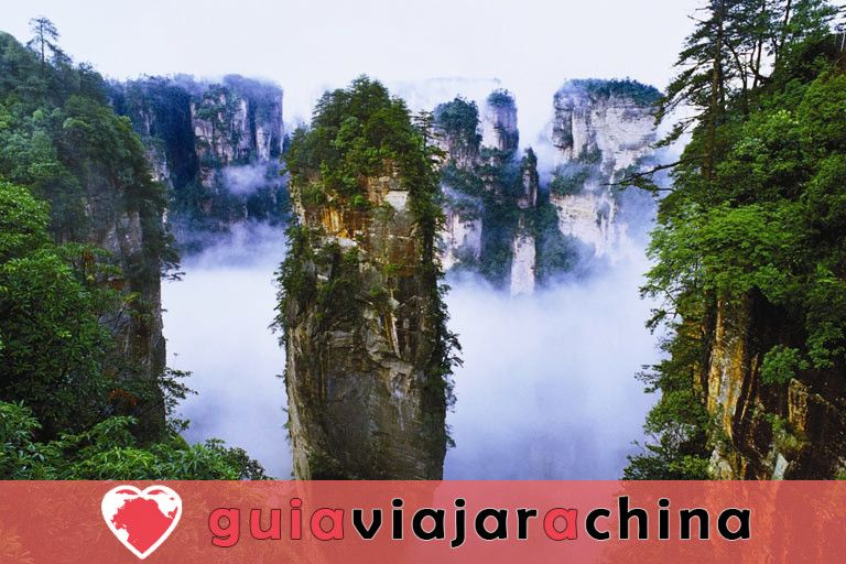 """Yuanjiajie - Busca el prototipo de """"Montañas del Aleluya del Avatar"""" 3"""
