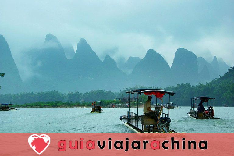 Bambú Rafting Yangshuo - Río Yulong y Río Li 8