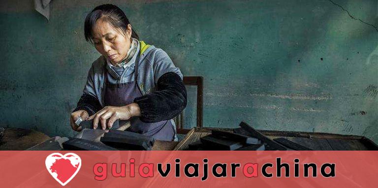 Fábrica de Tinta Hu Kaiwen (Tunxi) - Un toque cercano con el misterioso tintero chino 1