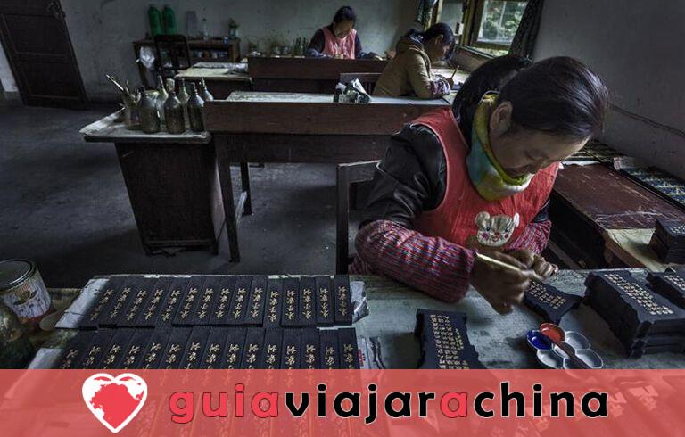 Fábrica de Tinta Hu Kaiwen (Tunxi) - Un toque cercano con el misterioso tintero chino 5
