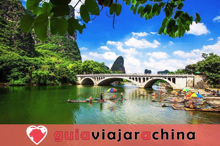 Bambú Rafting Yangshuo - Río Yulong y Río Li 5