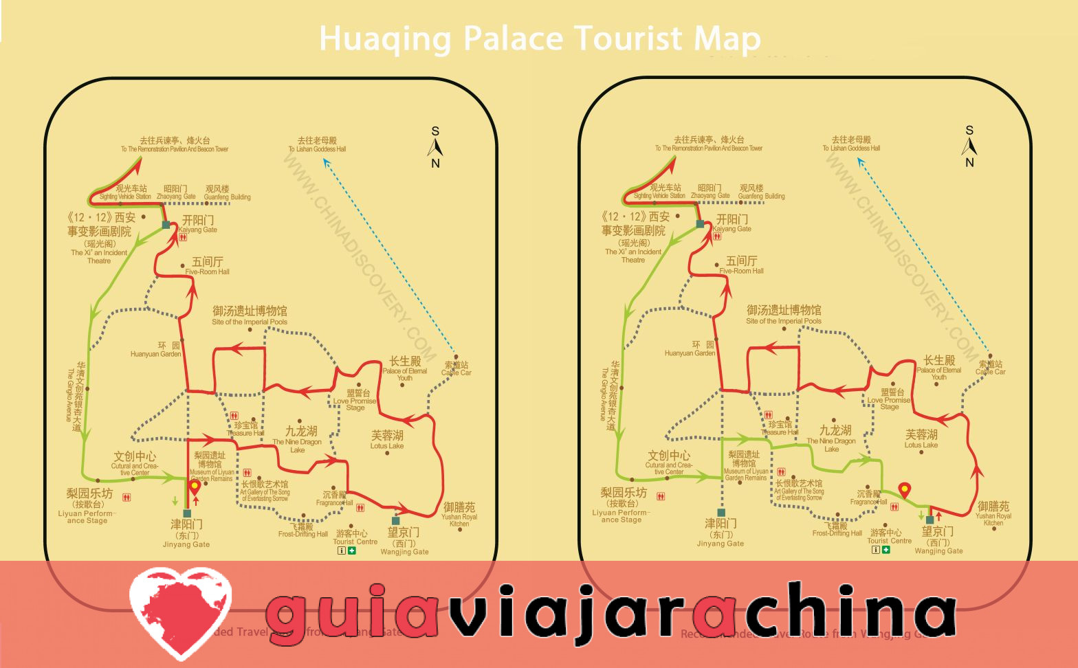 Piscina de Huaqing (Palacio de Huaqing) - Aguas termales y el canto del dolor eterno 13