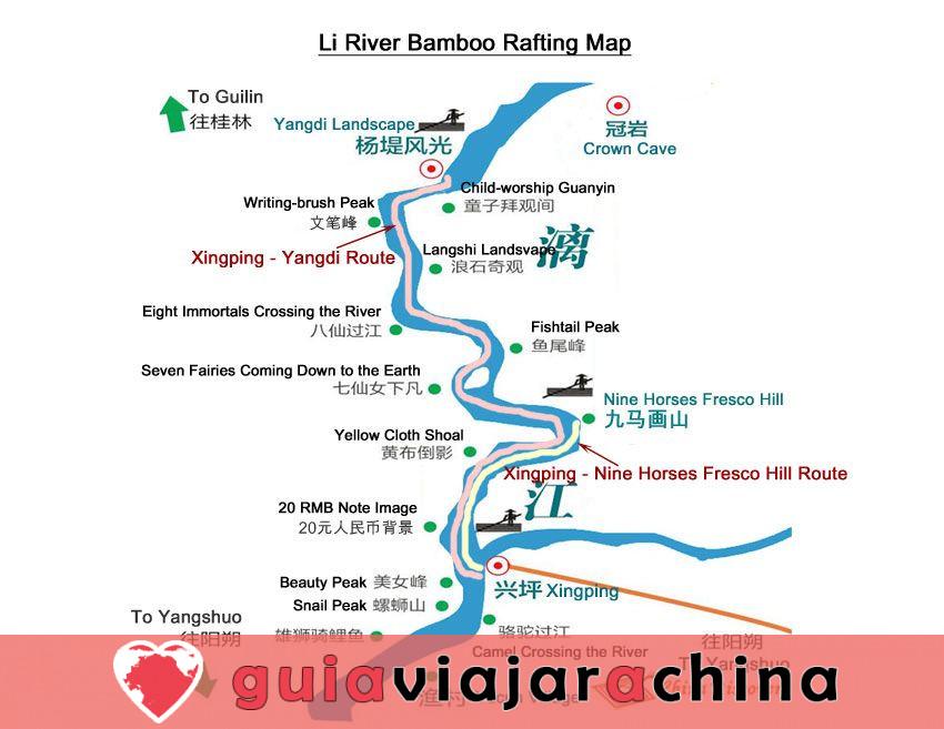 Bambú Rafting Yangshuo - Río Yulong y Río Li 6