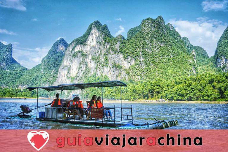 Bambú Rafting Yangshuo - Río Yulong y Río Li 7