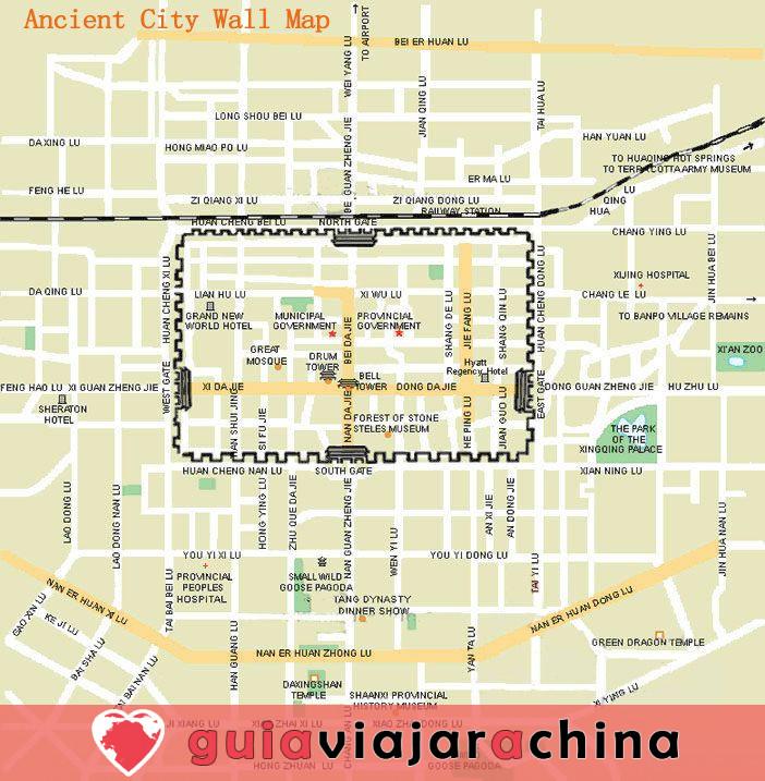 Muralla de la Ciudad Antigua de Xian (Cheng Qiang) - Muralla mejor conservada de China 2