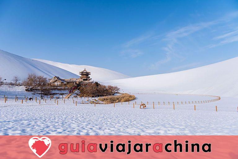 Parque Natural del Lago de la Media Luna de la Montaña Mingsha 4