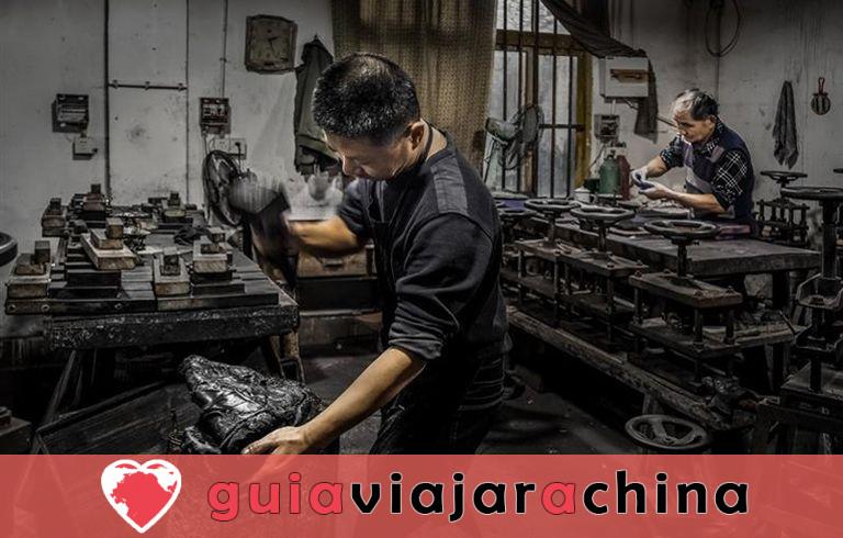 Fábrica de Tinta Hu Kaiwen (Tunxi) - Un toque cercano con el misterioso tintero chino 4