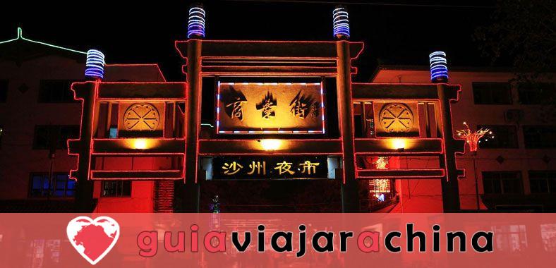 Mercado nocturno de Shazhou - Un bocado de Dunhuang 1