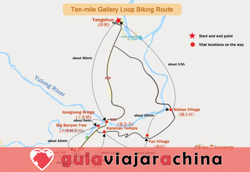 Yangshuo Biking Guide - Top Rutas y Mapas de Ciclismo, Alquiler de Bicicletas 3