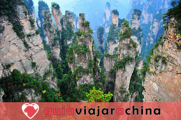 Montaña Tianzi - Vea los picos más impresionantes de la zona panorámica de Wulingyuan 4