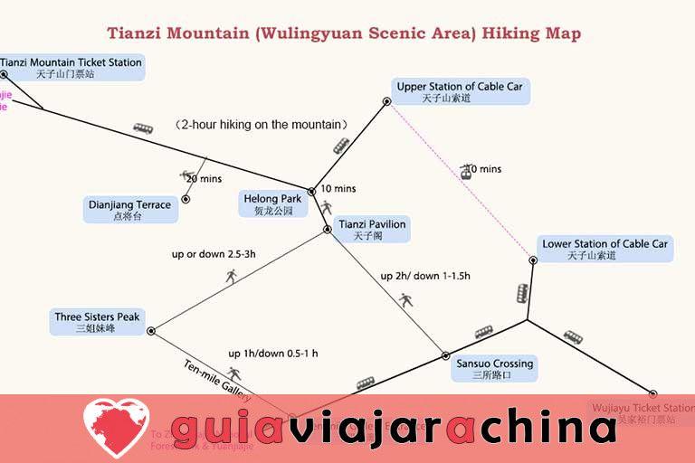 Montaña Tianzi - Vea los picos más impresionantes de la zona panorámica de Wulingyuan 9