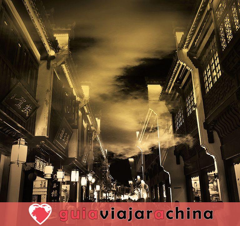 """Calle Antigua de Tunxi - Viviendo """"Escena de la ribera en el Festival Qingming"""". 2"""