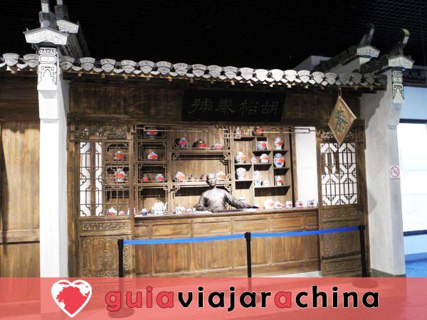 """Calle Antigua de Tunxi - Viviendo """"Escena de la ribera en el Festival Qingming"""". 5"""