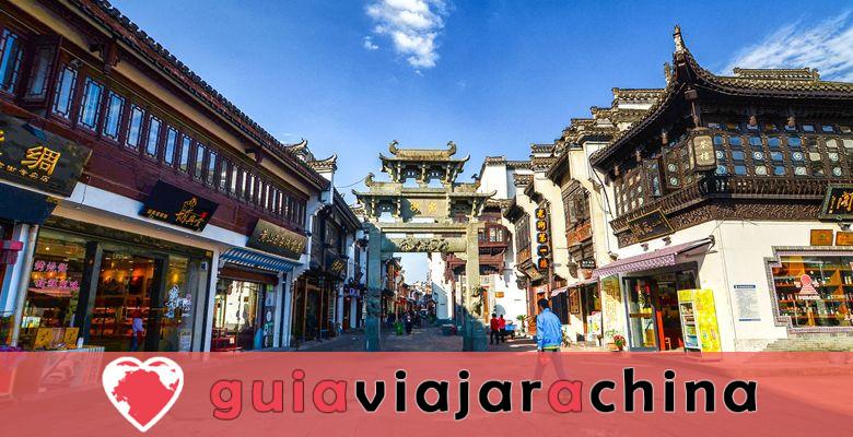 """Calle Antigua de Tunxi - Viviendo """"Escena de la ribera en el Festival Qingming"""". 1"""