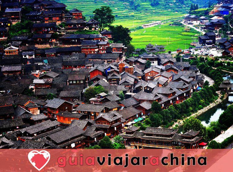 La aldea de la nacionalidad Xijiang Miao 2