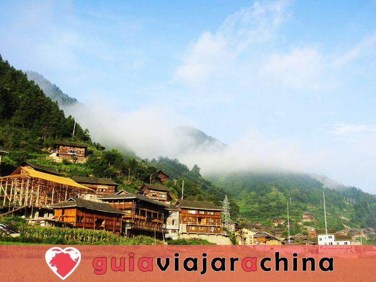 La aldea de la nacionalidad Xijiang Miao 4