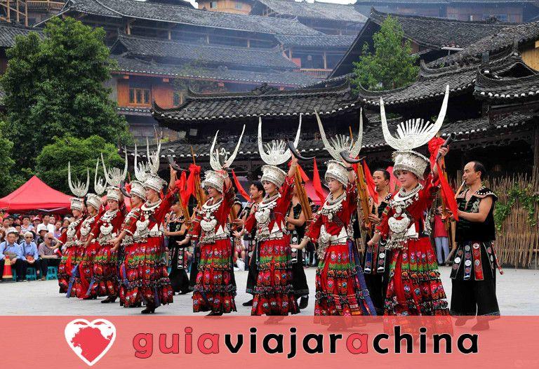 La aldea de la nacionalidad Xijiang Miao 5