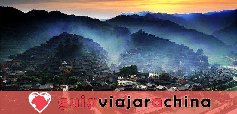 La aldea de la nacionalidad Xijiang Miao 1