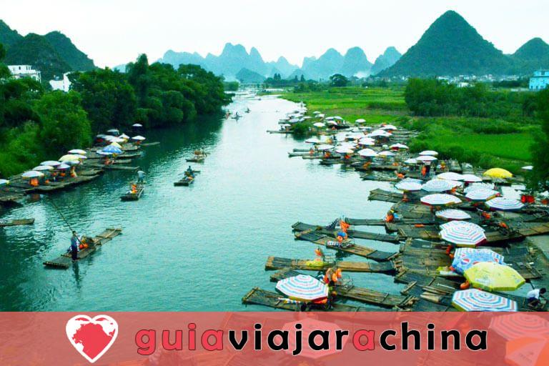 Bambú Rafting Yangshuo - Río Yulong y Río Li 4
