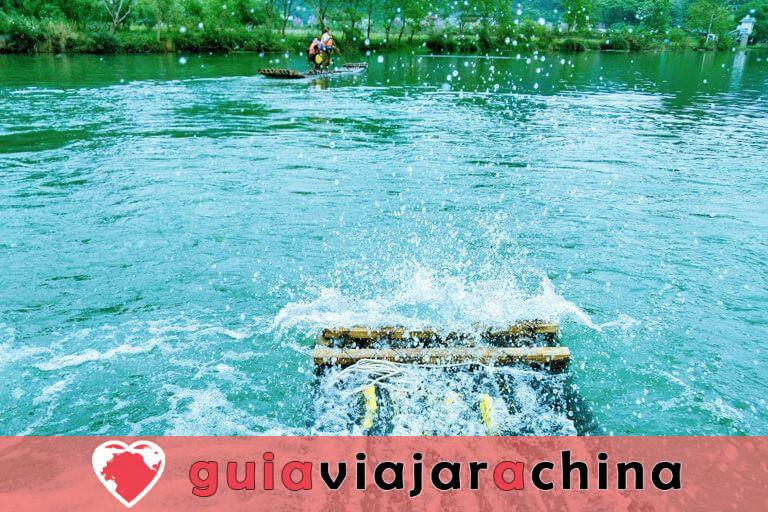 Bambú Rafting Yangshuo - Río Yulong y Río Li 9