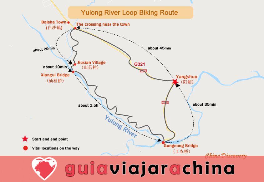 Yangshuo Biking Guide - Top Rutas y Mapas de Ciclismo, Alquiler de Bicicletas 7