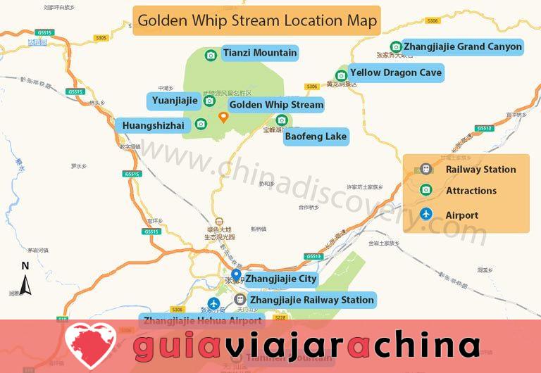 El arroyo Golden Whip - la ruta de senderismo más impresionante de Wulingyuan 9