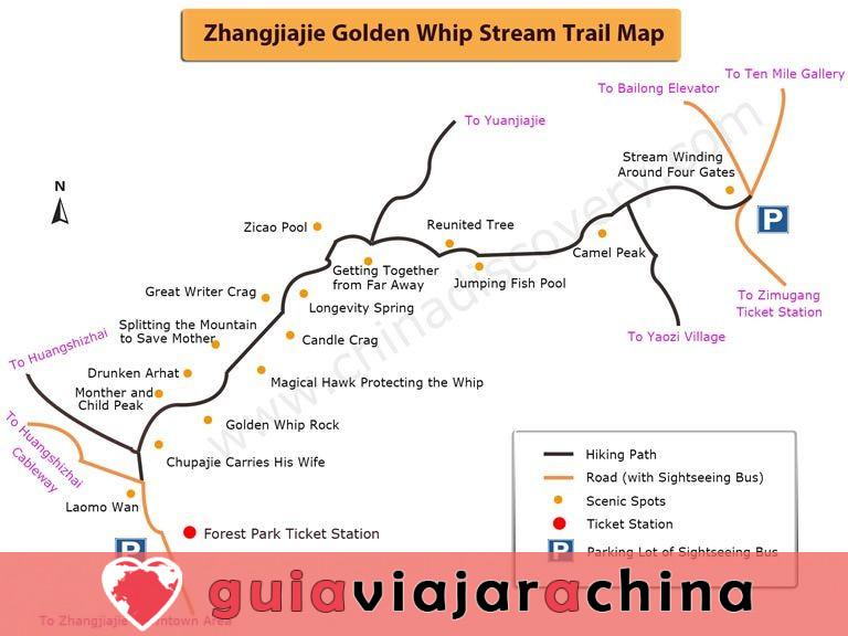 El arroyo Golden Whip - la ruta de senderismo más impresionante de Wulingyuan 7
